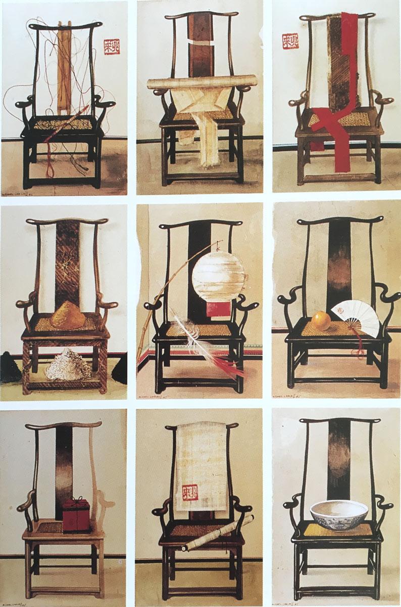 Série de chaises chinoises - 1995-michel-lablais